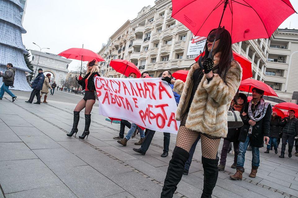 По десетти пат марш на црвените чадори  Сексуалните работници мета на насилство и дискриминација