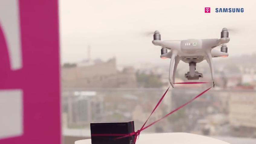 За прв пат во Македонија активиран дрон за испорака на Samsung Galaxy S8