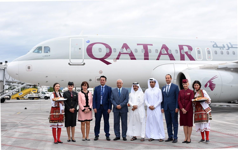 ТАВ и Министерот за транспорт го пречекаа првиот лет на Катар ервејс од Доха до Скопје