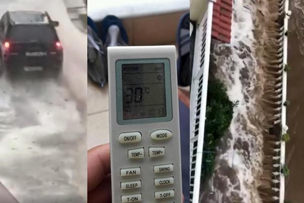 ГРЦИЈА  Поплави  студено време и снег на Олимп