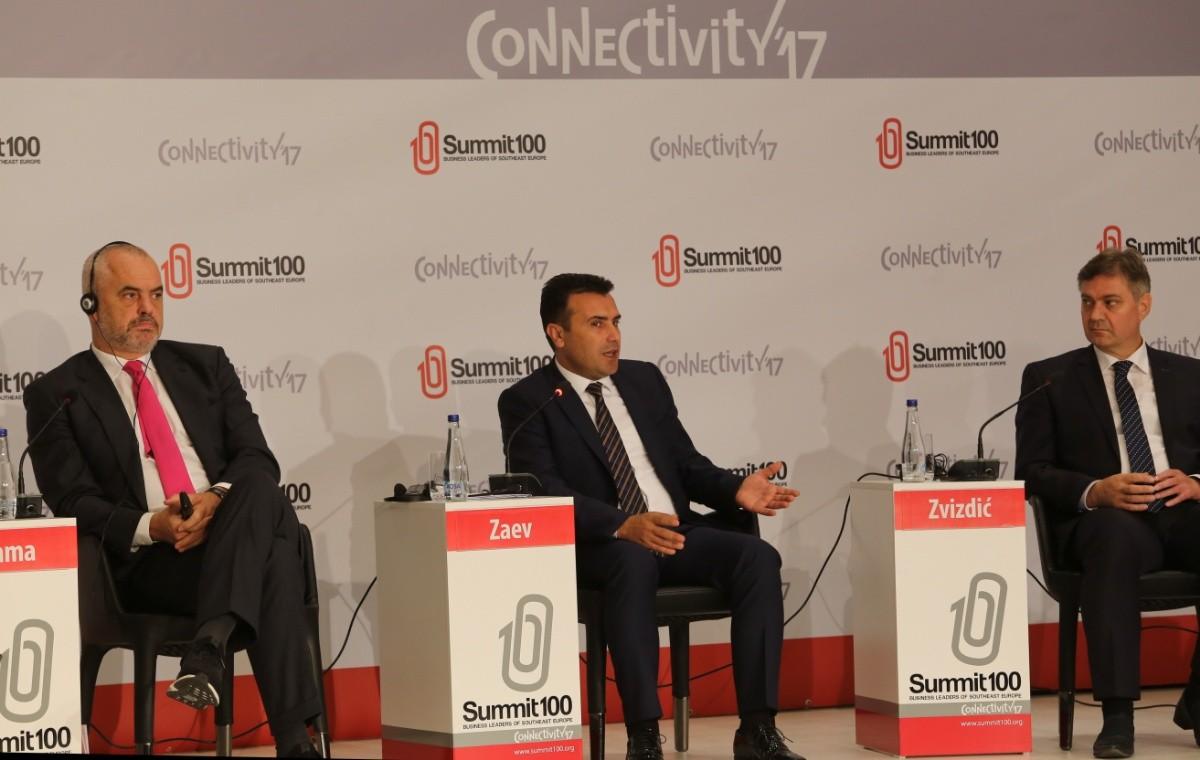 Заев на Самит100  Ако регионот напредува сите ќе напредуваме